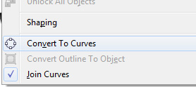 convert to curves