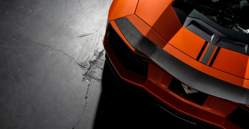 Vorsteiner Aventador-V Active Aero Wing Blade Carbon Fiber w/ Wing Base Primered For Paint PP 2x2 Glossy