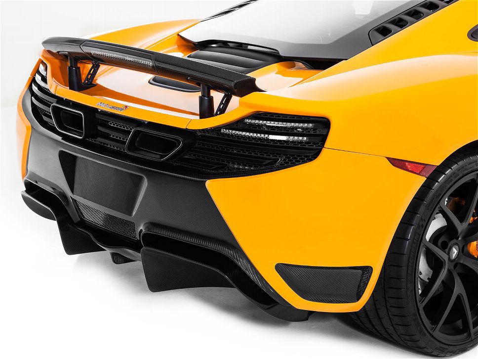 Vorsteiner Mclaren MP4-12C V-MC Aero Rear Diffuser Replacement For V-MC Rear Bumper Cover Carbon Fiber PP 2x2 Glossy