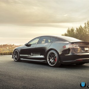 Unplugged Urethane Side Skirts: Tesla Model S (2012+)
