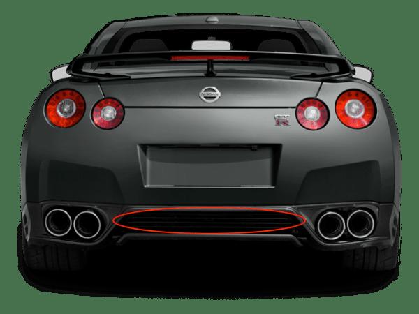 Nissan 85070-KB50A dba rear exhaust grille