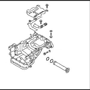 Nissan OEM 11110 38B0A Magnesium Upper Oil Pan VR38DETT: 2009 2017 Nissan R35 GTR 2