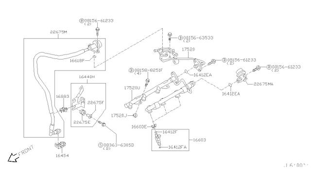 Nissan OEM 16618-EA000 Lower Injector O-Ring Seal VR38DETT