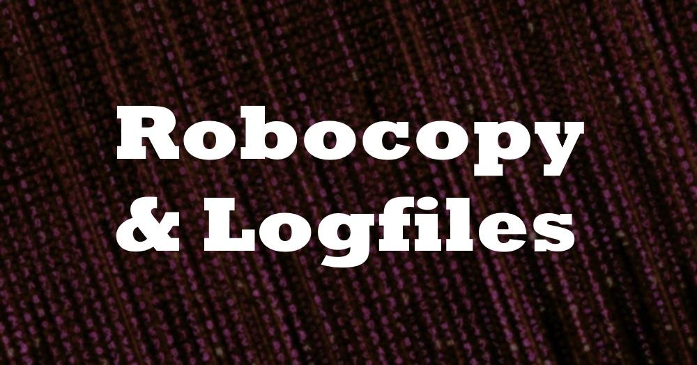 Deleting Log Files Using Robocopy