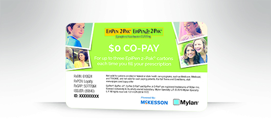 The EpiPen ® $0 Co-pay Offer*