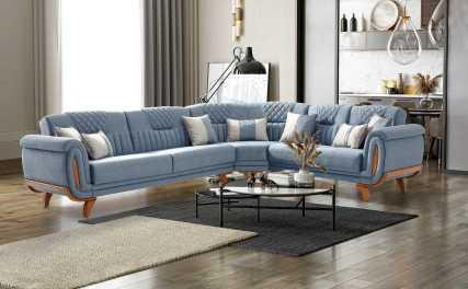 Κλασικός Καναπές Γωνία Κρεβάτι Valeria Corner 13165