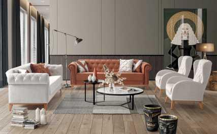 Κλασικός Καναπές Κρεβάτι Ermes 13129