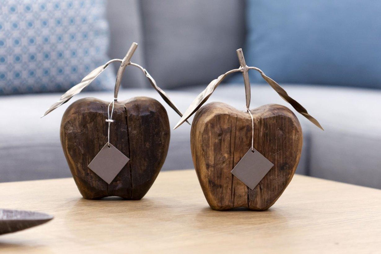 Διακοσμητικά ξύλινα μήλα
