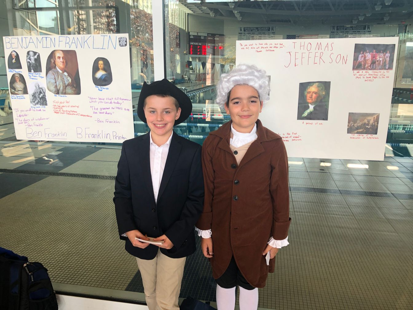 Famous Figures Stop By 5th Grade Wax Museum