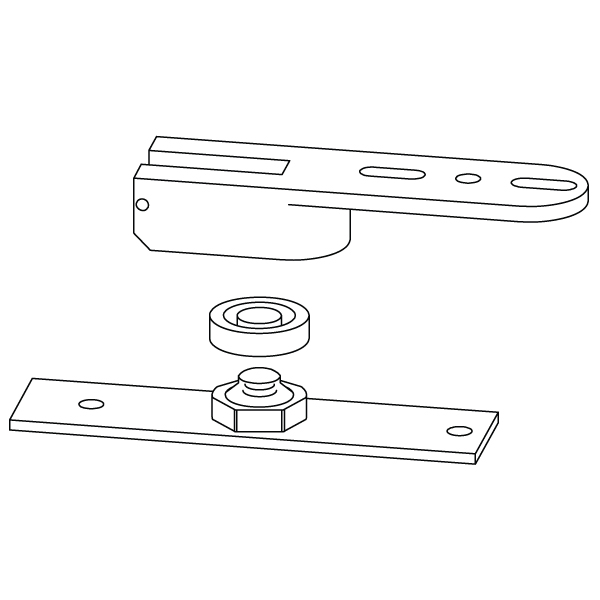 8852 RTS88 Series Adjustable End Load Floor Pivot by Dorma