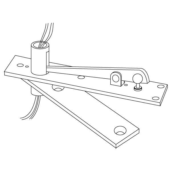 E-H340 Electrified Center Hung Door Top Pivot 4 Wire by