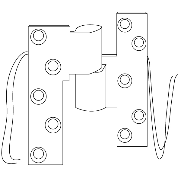 EM19 4-Wire Offset Hung Intermediate Pivot by Rixson