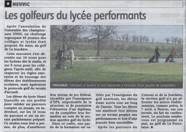 2021-04-10_La Montagne_Neuvic golf au lycée