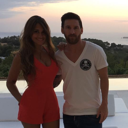 Messi and his wife Antonella Roccuzzo