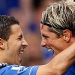 Eden Hazard and Fernando Torres