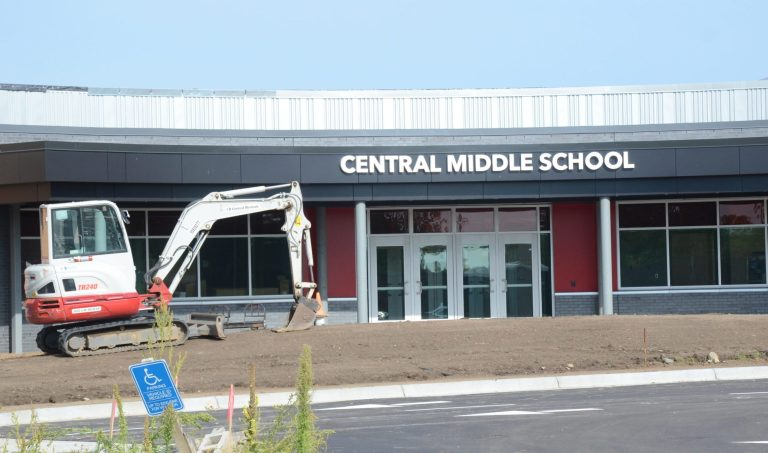 West entrance of Central Middle School