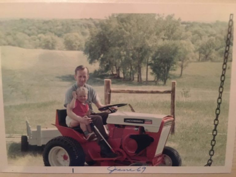 A 1969 photo of Harold and Brent Johnson farm