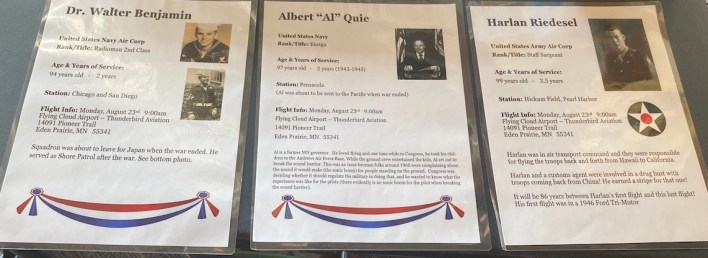 The biographies of three of the veterans