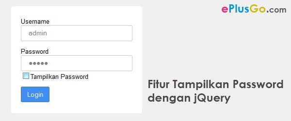 Membuat Fitur Show Password dengan jQuery