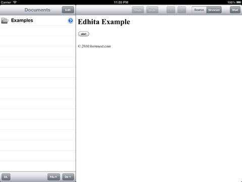 Editor Web Untuk Perangkat iPad