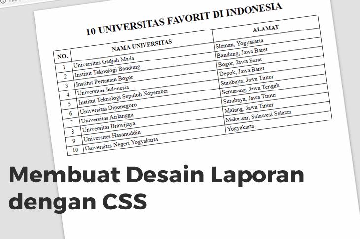 Membuat Desain Laporan Dengan CSS