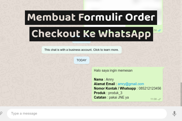 Membuat Formulir Order Checkout Ke WhatsApp