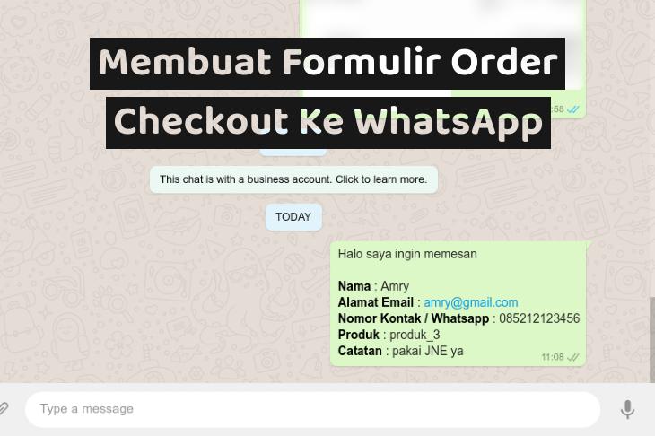 Membuat Formulir Order Checkout Ke WhatsApp