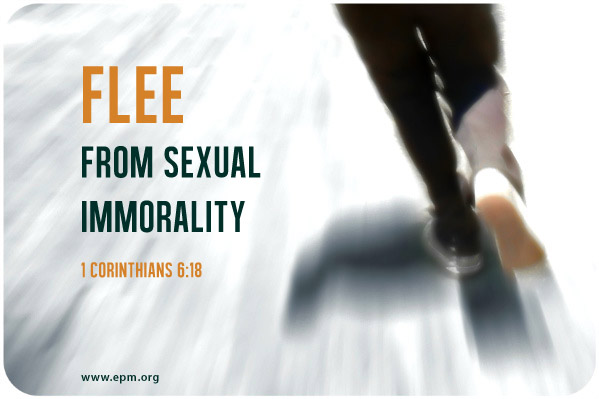 Image result for image of fleeing sexual immorality