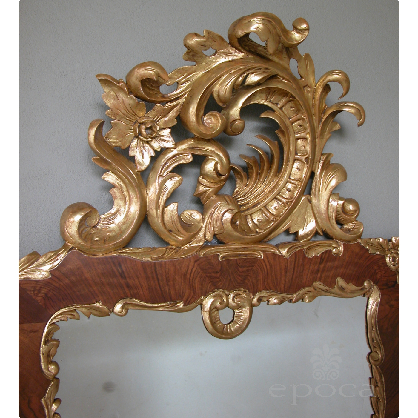 A Curvaceous Danish Rococo Style Burl Walnut And Carved