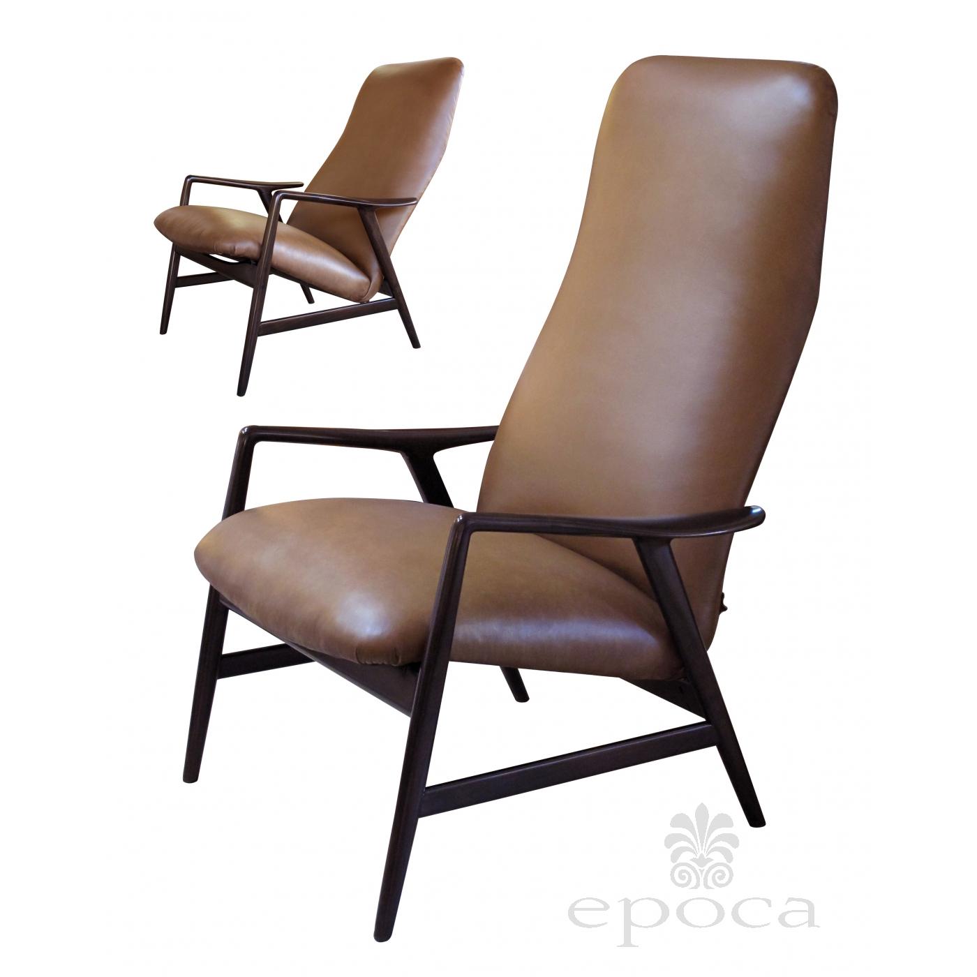 correct posture lounge chair stool black gold a stylish danish modern alf svensson for fritz hansen 1960