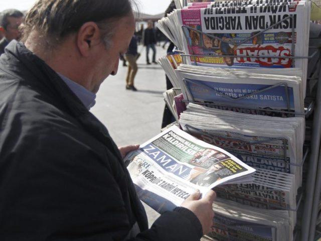 Die Tageszeitung «Zaman» wurde schon im März unter staatliche Zwangsverwaltung gestellt. Nun sollen ehemalige Mitarbeiter den Putsch unterstützt haben. Foto:Deniz Toprak/Archiv/dpa