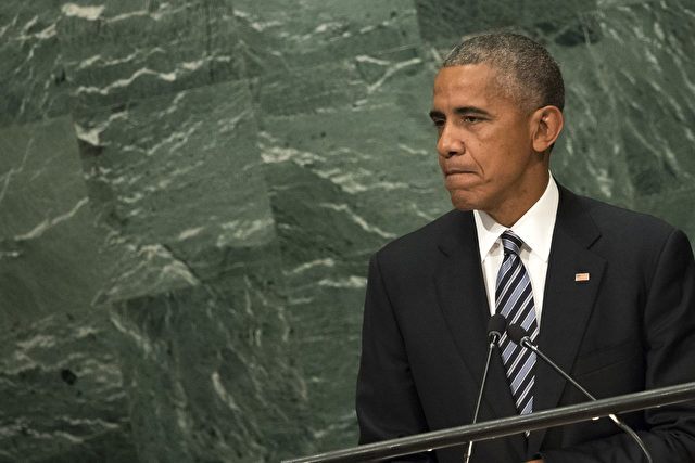 NEW YORK, NEW YORK - SEPTEMBER 20: U.S. President Barack Obama addresses the United Nations General Assembly at UN headquarters, September 20, 2016 in New York City. According to the UN Secretary-General Ban ki-Moon, the most pressing matter to be discussed at the General Assembly is the world's refugee crisis. (Photo by Drew Angerer/Getty Images)