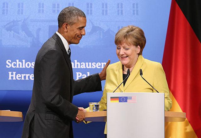 Bundeskanzlerin Angela Merkel and U.S. Präsident Barack Obama Foto: Sean Gallup/Getty Images