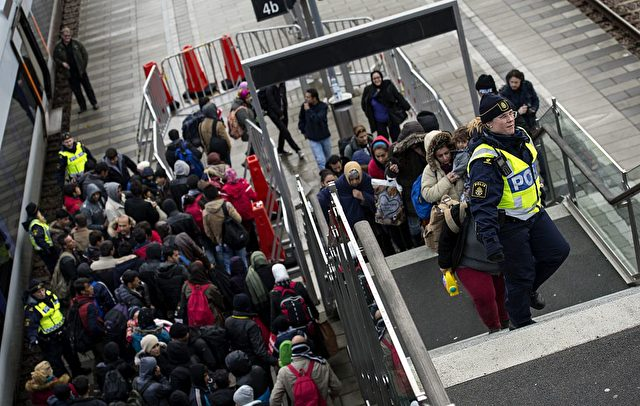 Flüchtlinge in Dänemark am 19. November 2015. Foto: JOHAN NILSSON/AFP/Getty Images