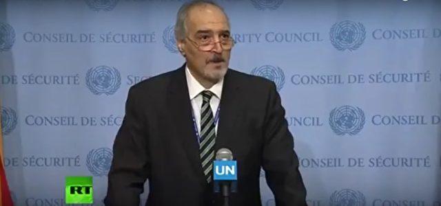 Der Ständige Vertreter Syriens vor den UN, Baschar al-Dschafari Foto: RT/Screenshot