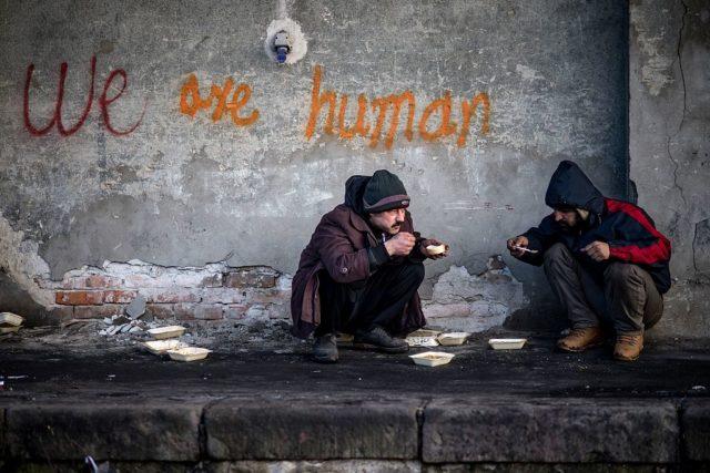 Flüchtlinge in Serbien. 15. Januar 2017. Foto: ANDREJ ISAKOVIC/AFP/Getty Images