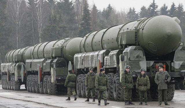 Russische Interkontinentalraketen Foto: DIMA KOROTAYEV/AFP/Getty Images