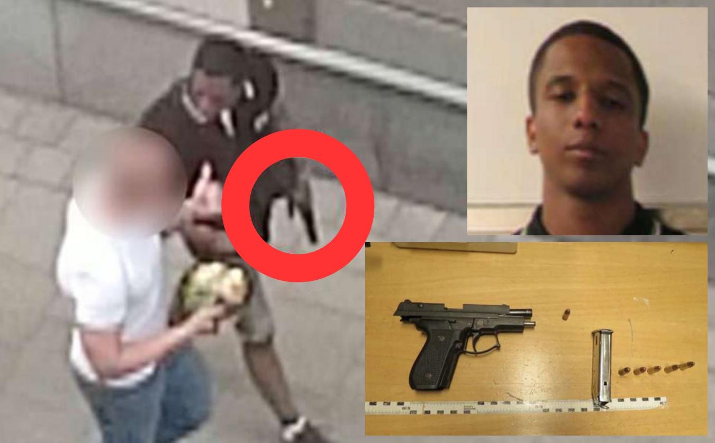 Merhawi Aregai, 26, im Jahr 2015 bewaffnet in Stockholm. Foto: Polizei