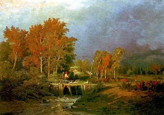 I colori dautunno nel bel paesaggio realista  Paesaggio