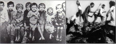 Фотографии маленьких рабов ни кому не были нужны. Лишь случайно человек с фотоаппаратом (даже в форме НКВД) мог попасть туда, где советская власть гнобила десятки тысяч детей собственного народа. Но все же, несколько таких снимков остались в архивах. Фото: gulag.ipvnews.org
