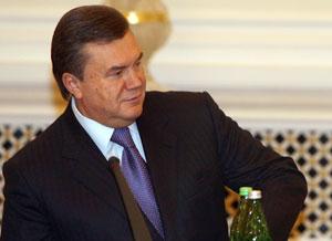 Премьер-министр Украины Виктор Янукович. Фото: SERGEI SUPINSKY/AFP/Getty Images