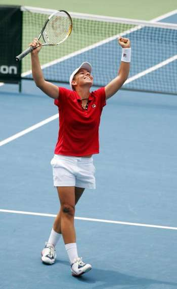 Марина Еракович из Новой Зеландии во время соревнований. Фото: Sandra Mu/Getty Images