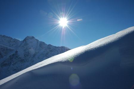 Искристый снег Чегета. Фото: Щеткина Оксана/Великая Эпоха