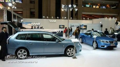 Стенд компании Saab. Семейство 9-3: универсал и кабриолет. Фото: 3dnews.ru
