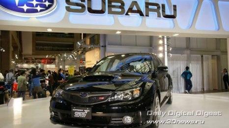 Стенд компании Subaru. Новая Subaru Impreza WRX STI в европейской модификации. Фото: 3dnews.ru