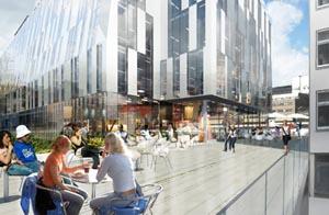 Торговый центр будет питаться энергией толпы. Фото: Kungsbrohuset.se