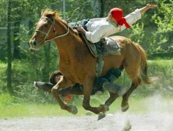 Киргизский акробат-наездник. Фото: Vyacheslav Oseledko /AFP /Getty Images