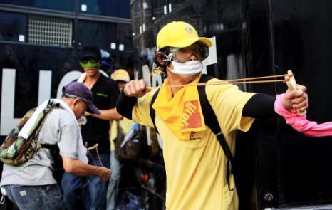 Полиция жестко разогнала митинг в Бангкоке. Фото: Chumsak Kanoknan/Getty Images