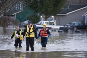 Небывалое наводнение в штате Вашингтон. Фото: Stephen Brashear/Getty Images