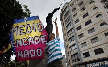 Митинг против решения правительства Венесуэлы о закрытии 34 радиостанций. Фото: THOMAS COEX/AFP/Getty Images